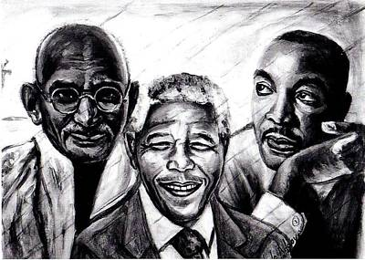 Drawing - Freedom Hero Print by Wale Adeoye