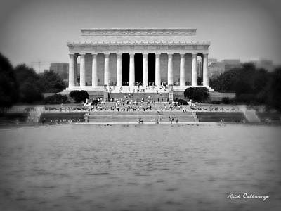 Freedom In Focus The Lincoln Monument  Art Print by Reid Callaway