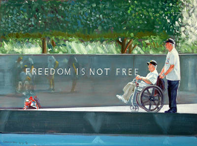 Painting - Freedom Is Not Free by Gordon Bell