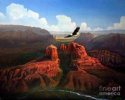 Cathedral Rock Painting - Freedom by Jerry Bokowski