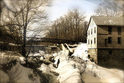 Photograph - Freedom Mill Stream by John Meader