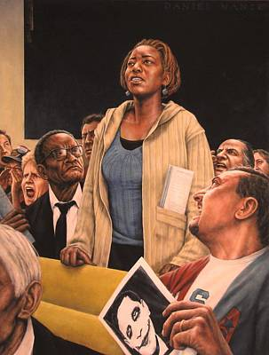 African American Painting - Freedom Of Speech 2010 by Dan  Nance