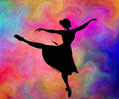 Ballerinas Digital Art - Freedom Of The Dance by Abstract Angel Artist Stephen K