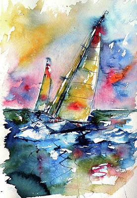 Painting - Freedom On The Water by Kovacs Anna Brigitta