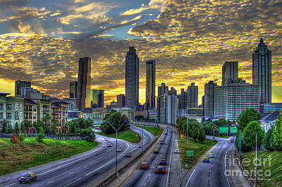 Photograph - Freedom Parkway Sunset Too Atlanta Art  by Reid Callaway