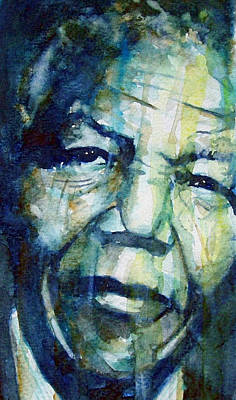 Watercolor Portraits Painting - Freedom by Paul Lovering