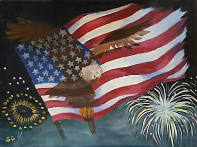 Painting - Freedom Reigns by Sharon Casavant