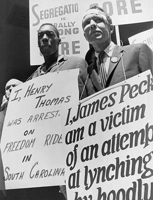 Discrimination Photograph - Freedom Riders James Peck, Head by Everett