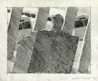 Lincoln Memorial Drawing - Freedom Riders by John Grazier