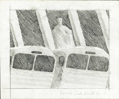 Lincoln Memorial Drawing - Freedom Rides by John Grazier