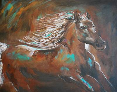 Painting - Freedom Run by Leslie Allen