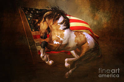 Pinto Digital Art - Freedom Run by Shanina Conway