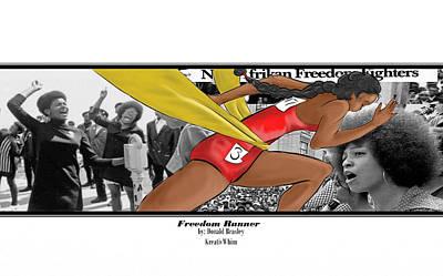 Freedom Runner Art Print by Donald Beasley