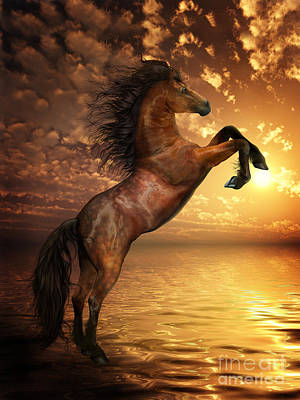 Wild Horse Digital Art - Freedom by Shanina Conway