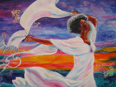 Liberation Painting - Freedom Song by Caroline Harnish