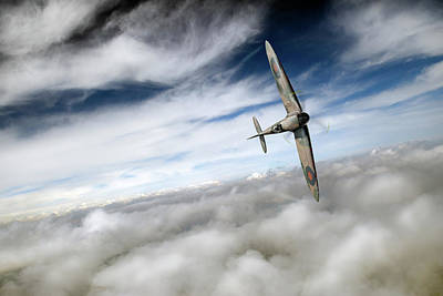 Photograph - Freedom - Spitfire Solo by Gary Eason
