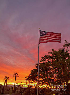 Photograph - Freedom Sunset by Robert Bales