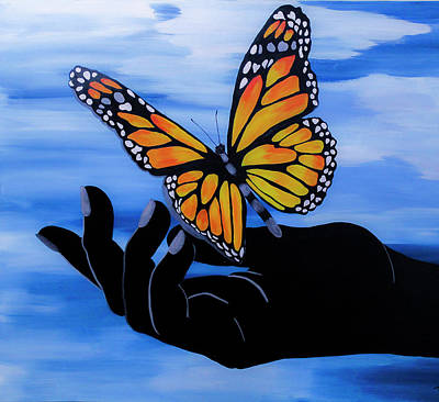 Wild Horse Paintings - Butterfly series/Freedom by Tina Law