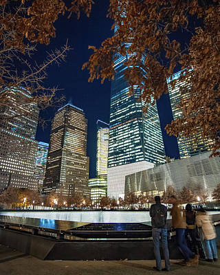 Freedom Tower And Reflecting Pools Art Print