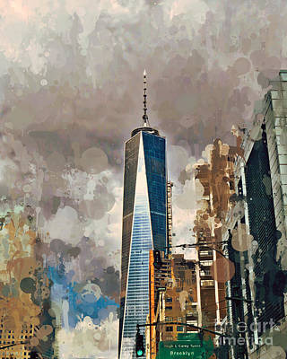 Photograph - Freedom Tower Art by Kerri Farley