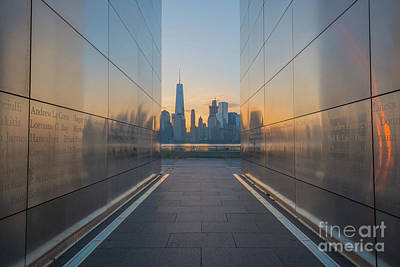 911 Memorial Photograph - Freedom Tower From Empty Sky Memorial  by Michael Ver Sprill