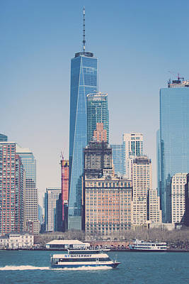 Freedom Tower From The Hudson Art Print by Erin Cadigan