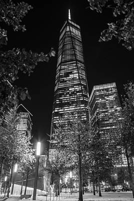 Grimm Fairy Tales - Freedom Tower NYC Black and White by John McGraw