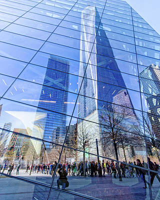 Photograph - Freedom Tower Reflection by Alan Raasch