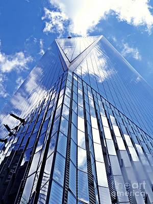Blue Glass World Photograph - Freedom Tower by Sarah Loft