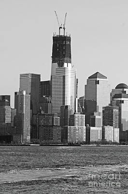 Photograph - Freedom Tower Under Construction In Black And White by Paul Ward
