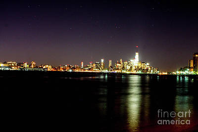 Freedom Tower With The Starry Sky Art Print by William Rogers