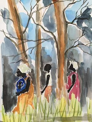 Harriet Tubman Painting - Freedom Trail by Ken  Blacktop  Gentle