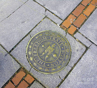 Photograph - Freedom Trail Marker by Ruth H Curtis