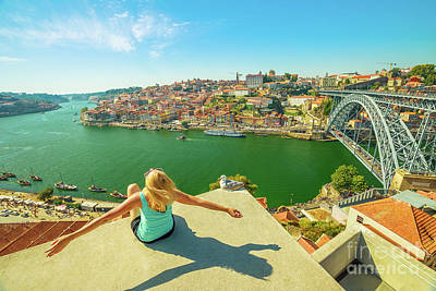 Photograph - Freedom Woman At Douro River by Benny Marty