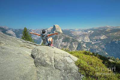Photograph - Freedom Woman At Glacier Point by Benny Marty