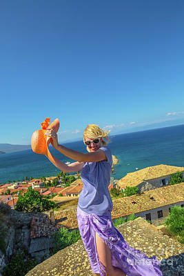 Photograph - Freedom Woman In Greece by Benny Marty