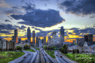 Photograph - Freedom's Dusk Atlanta Freedom Parkway Sunset Art by Reid Callaway