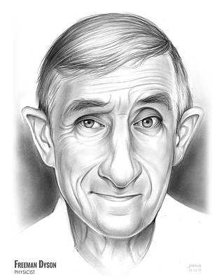 Drawings Rights Managed Images - Freeman Dyson Royalty-Free Image by Greg Joens