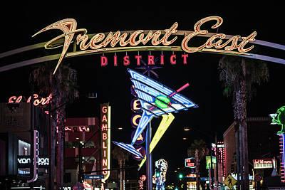 Photograph - Freemont Street Las Vegas by John McGraw
