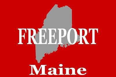 Art Print featuring the photograph Freeport Maine State City And Town Pride  by Keith Webber Jr