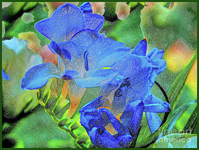 Photograph - Freesia's Of Beauty by Lance Sheridan-Peel