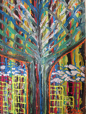 Freetown Cotton Tree - Abstract Impression Art Print by Mudiama Kammoh