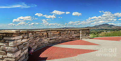 Photograph -  Freezeout Hill Pioneer Monument View by Robert Bales