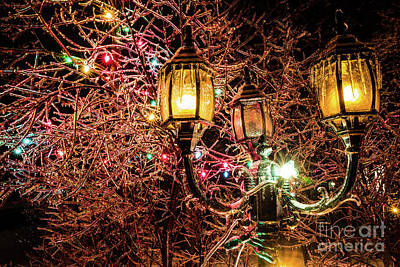 Photograph - Christmas Lamp by Miles Whittingham