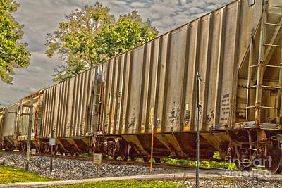 Photograph - Freight Cars by William Norton