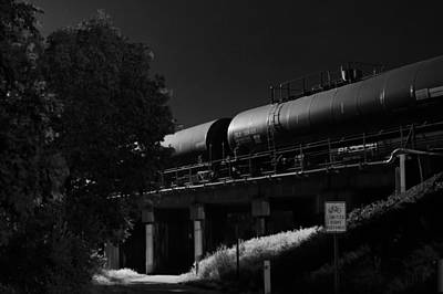 Photograph - Freight Over Bike Path by Stephen Holst
