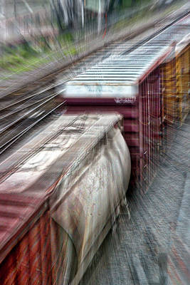 Photograph - Freight Train Abstract by Stuart Litoff