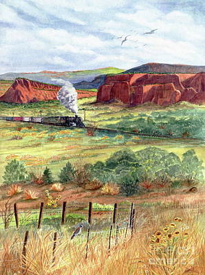 Freight Train From Gallup Art Print