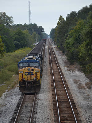 Photograph - Freight Train Headed East by rd Erickson