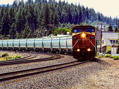 Photograph - Freight Train In The Mountain by Joe Lach